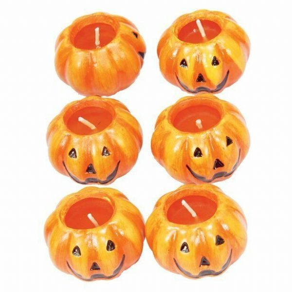 Halloween Ceramic Pumpkin Candles (6cm)